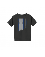 Black Infant, Toddler & Youth Flag Tee