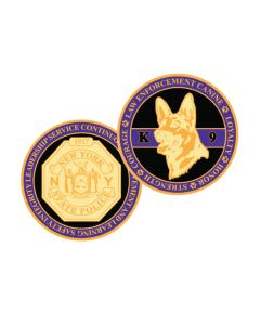 K9 Gold Challenge Coin
