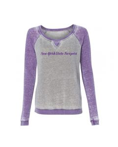J America Gray/Purple Crewneck Sweatshirt