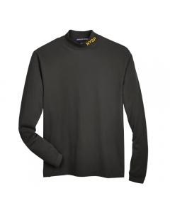 Black Cotton Jersey Mock Turtleneck