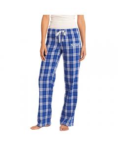 Royal Blue Ladies Flannel Pants