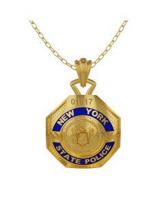 NY State Trooper – Quarter Size Pendant