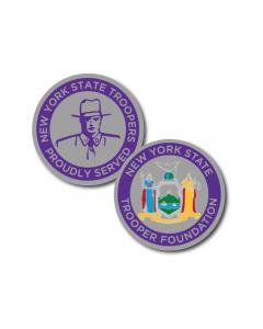 Purple/Silver Coin
