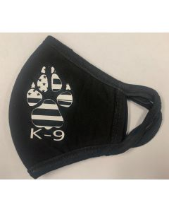 K9 and Paw Facemask (White)